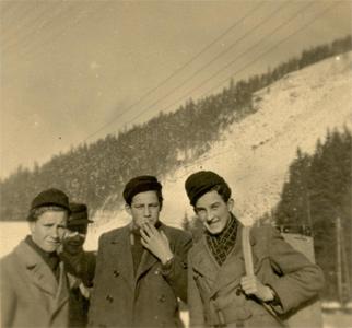 Rudi Höhn auf dem Weg zur Dachdeckerschule in Lehesten